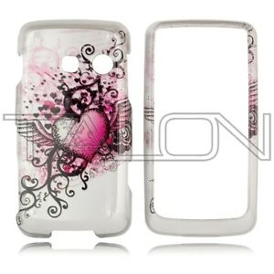 For-LG-Rumor-Touch-LN510-Banter-Touch-UN510-Hard-Case-Phone-Cover-Grunge-Heart
