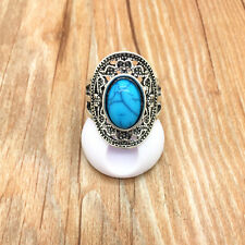 Jewelry 316L Stainless Steel Fashion Design Blue Mini Stone Ring Size 10 S10W27
