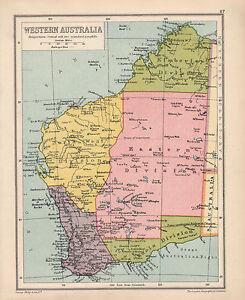 West Australia Map.Details About 1934 Map Western Australia