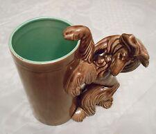 "Afghan Hound Dog Stein Kay Finch Model 5458~7"" Tall Figurine California Pottery"