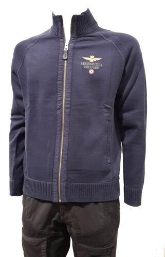 Felpa Inverno'18 Maglione Aeronautica Af347 Uomo Militare Navy Zip Blu Cardigan nzzqxvr8wB