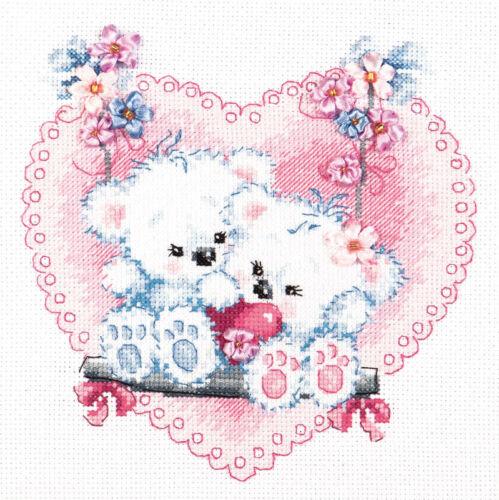 art 80-06 Cross Stitch Kit Happy love wedding