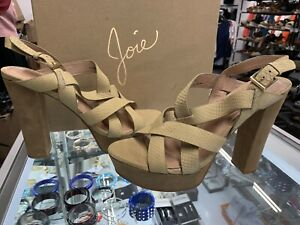 fb52f4e9b7be Image is loading Joie-Inez-Snake-Embossed-Cement-Platform-Sandals-Size-