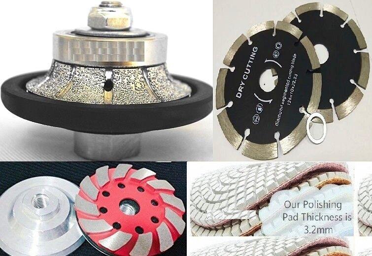 1 2  Radius Bullnose 35 Diamond Polishing pad grinding cup cutting blade granite
