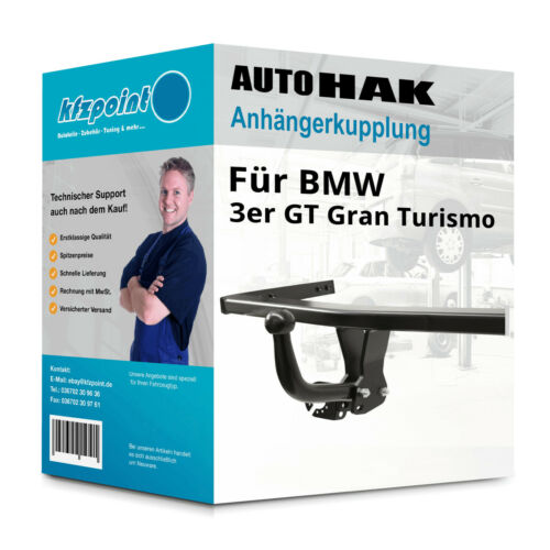 EBA Neuware 3er Gran Turismo 03.2014-jetzt AUTO HAK Anhängerkupplung starr inkl