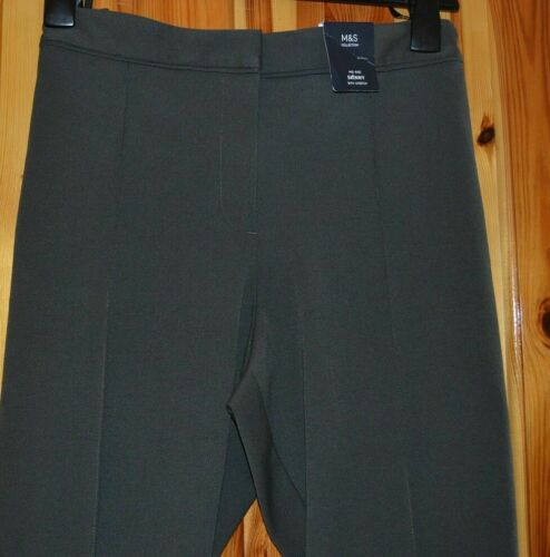 M/&S COLLECTION LADIES MIDRISE SKINNY WITH STRETCH TROUSER KHAKI SIZE14 REG ban12
