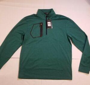 Ralph-Lauren-RLX-Golf-Stretch-Jersey-Pullover-Green-Men-s-Size-Medium-125-MSRP