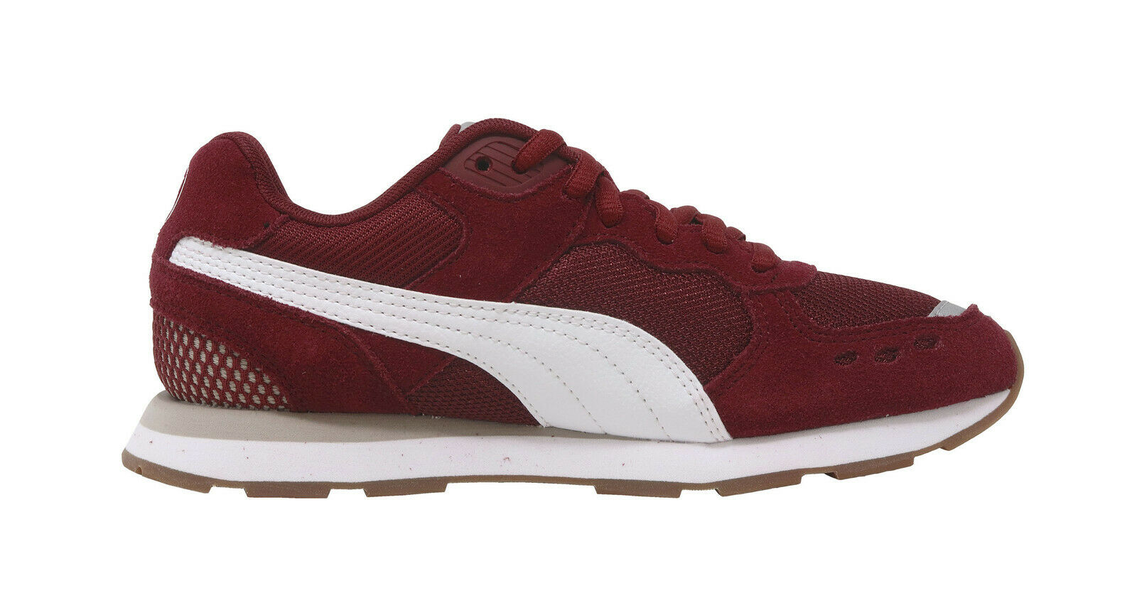 PUMA Vista JR Mesh Mesh Mesh Suede Cordovan Burgundy rouge Lace up baskets Kids Youth chaussures 8d96c6