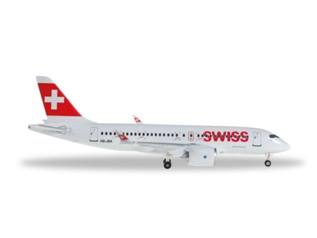 SWISS SWISS SWISS Bombardier CS100 (HB-JBA), 1 400, Herpa f502b0