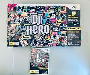 DJ-Hero-Nintendo-Wii-Boxed-Complete-With-Turntable-And-Manuals