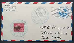 US-Airmail-Cover-Oakland-Philatelic-Society-5c-Stationery-Stamped-Lupo-Lot