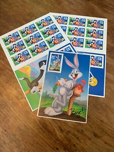 1998 Sylvester and Tweety Bird US Stamp Sheets 32 Cent Item 558915 + BUGS BUNNY