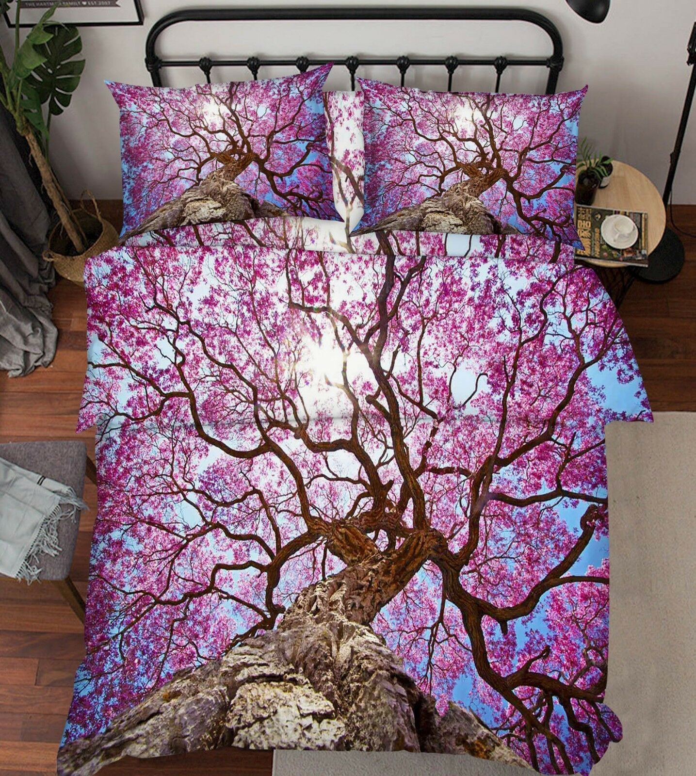 3D Tree Sky Nature 79 Bed Pillowcases Quilt Duvet Cover Set Single Queen King CA