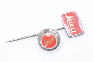 2X NICE ORIGINAL LEICA M, R AND SCREW MOUNT ADVERTISING TIE PIN