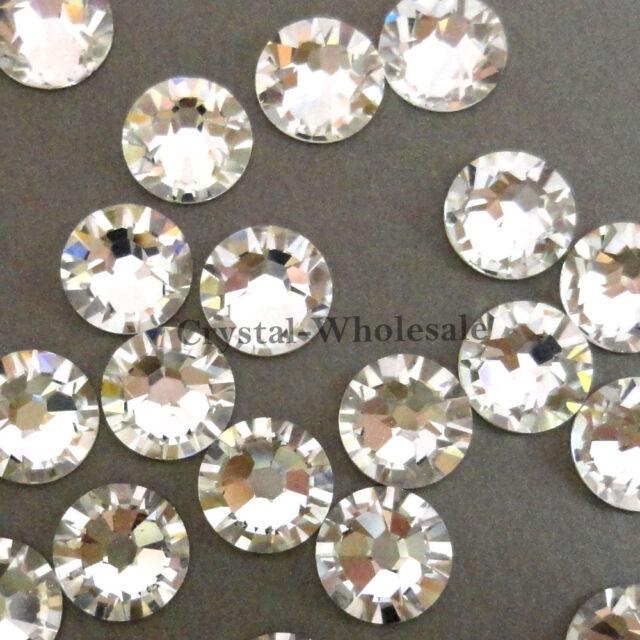144 Swarovski 2058 6ss flatback rhinestones nail art 2mm ss6 clear CRYSTAL (001)