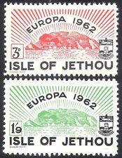 Jethou (Channel Islands)1962 Europa/Island/Coat-of-Arms/Animation 2v set n40804