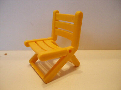 2 Stück Playmobil Klappstuhl Camping Stuhl gelb