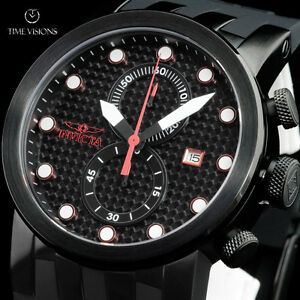 invicta men 039 s dna racer chronograph carbon fiber dial image is loading invicta men 039 s dna racer chronograph carbon