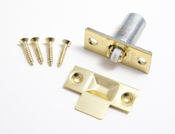 New Adjustable Roller Catch Eb Brass Plated Eb Heavy Duty Pk 48