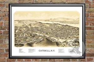 Old-Map-of-Catskill-NY-from-1889-Vintage-New-York-Art-Historic-Decor