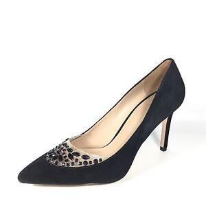 442d7303fd7 Tory Burch Delphine Women s Size 9.5 M Black Suede Heel Pump Dress ...
