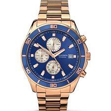 Sekonda Gents Rose Gold Bracelet Blue Chronograph Dial Watch 1141 RRP £99.99
