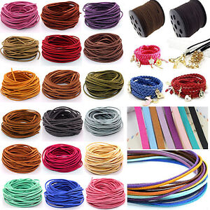 20yd Wholesale 3mm Suede Leather String Jewelry Making Bracelet DIY Thread Cord