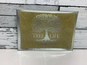 Tree-Of-Life-Trinket-Dish-Silver-Glass-14CM-X-10CM-Jewellery-Coins-Keys-Table