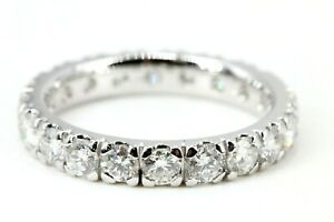 Memory-Ring-750-Diamant-18K-Weissgold-20-Brillanten-2-03ct-VS1-SI2-H-Groesse-55