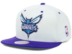 Mitchell-amp-Ness-Charlotte-Hornets-STA3-XL-Logo-White-Snapback-Hat-Cap-NBA