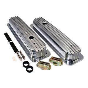 Aluminum-Valve-Covers-Short-Style-Retro-Vortec-TBI-Finned-Small-Block-Chevy-350