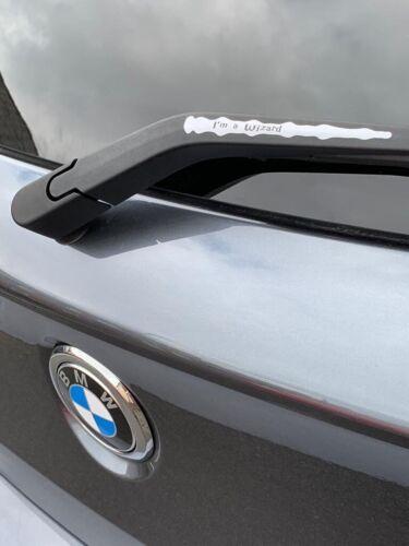 Harry  potter wand For Car Rear Wiper I'm A Wizard Fun Vinyl Decal Sticker