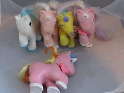 RüCksichtsvoll Vintage Remco 5 My Little Pony Pretty Pets 1989 Plastik Einhorn Pferde Blechspielzeug Figuren
