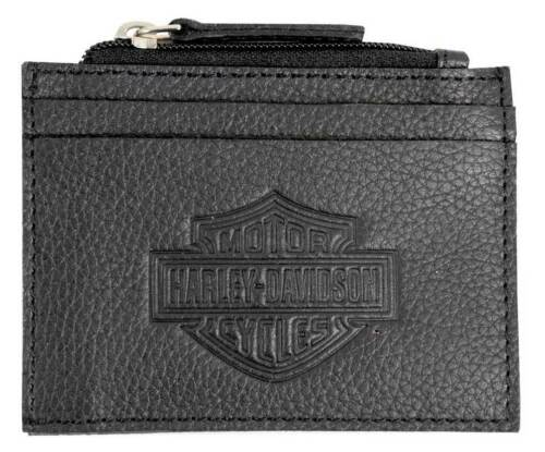 Harley Davidson Bar /& Shield Mens Zip Top Pocket Leather Wallet Birthday Gift
