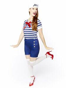 Adults-Ahoy-Sailor-Fancy-Dress-Costume-Hat-Uniform-Seas-Ladies-Womens-Military