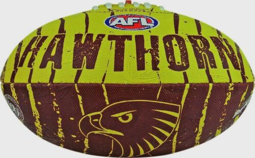AFL HAWTHORN HAWKS SIZE 2 CLUB LOGO FOOTBALL BRAND NEW