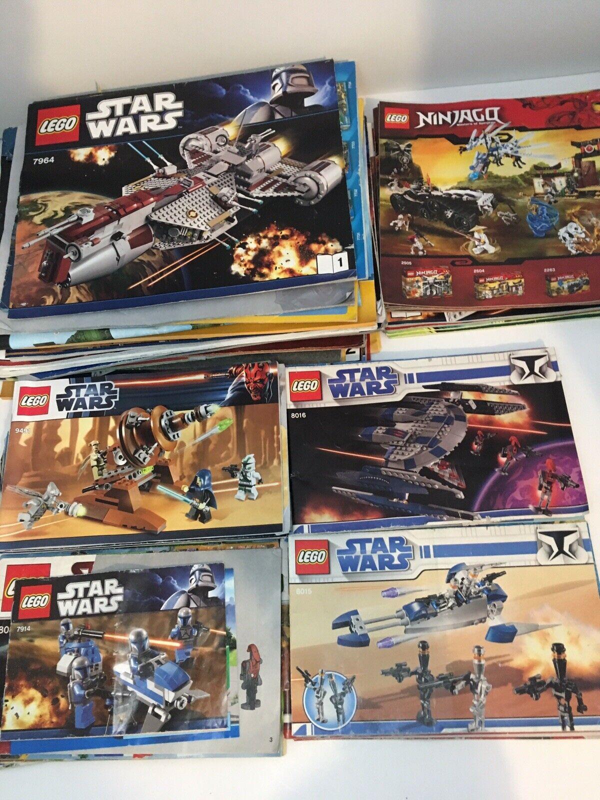 10 10 10 Lb Lot Bulk Lot Lego Manuals 60+ (Star Wars
