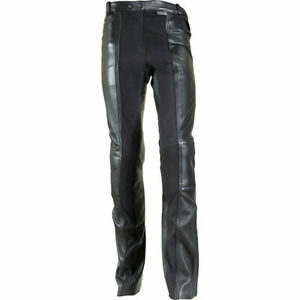Richa-Kelly-Jeans-Ladies-Black-Leather-Motorcycle-Trousers-New-RRP-169-99