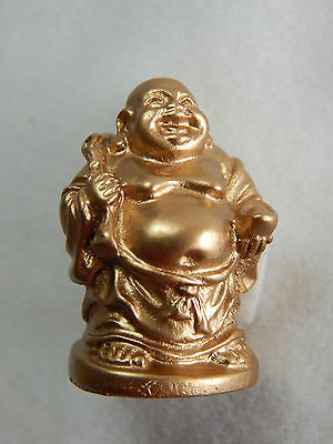 "Dollhouse Miniature 1:12 Scale 1/""x2/"" Buddha Budda Buddah Buda Statue #Z0211 Gold"