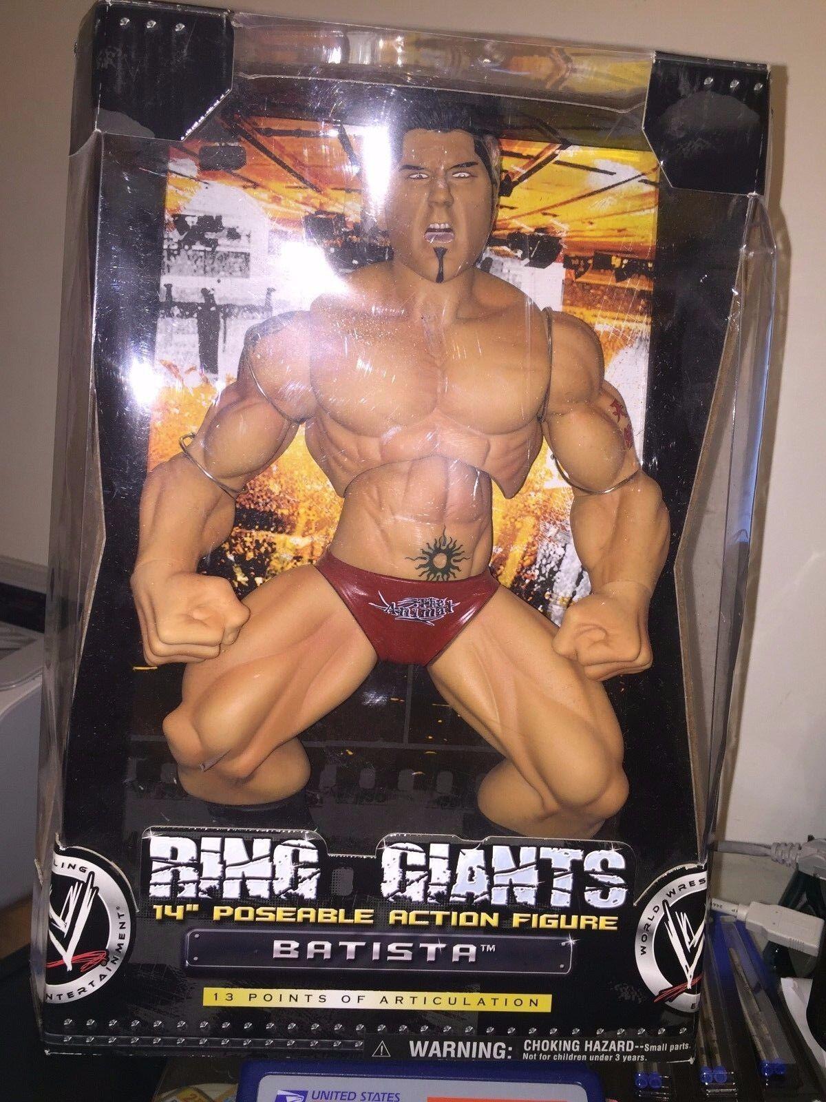 WWE Ring Giants 14  Posable Action Figure Batista NEW