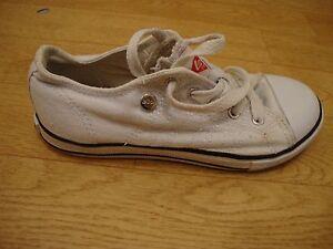 Chicos Blanco Zapatos De Lona Talla 12 de Lee Cooper