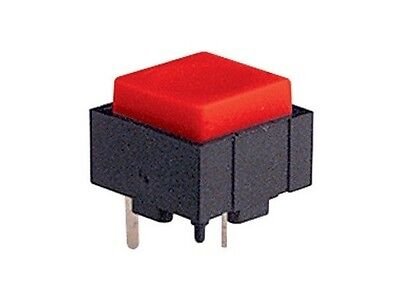 5x Micro mini pulsante 12x12mm con tasto rosso per circuito stampato pcb 24V