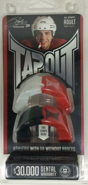 Two Multi Sport Mouthguards TapOut Adult Orange White