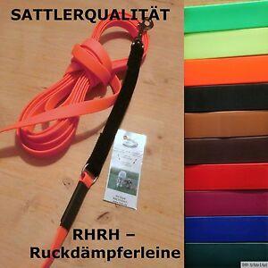 NEU-BioThane-Schleppleine-Ruckdaempfer-Wunschlaenge-Wunschfarbe-Trainingsleine