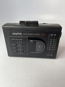 Vintage Sanyo Am/fm Cassette Player Stereo M GR78 Tested Works Portable Radio
