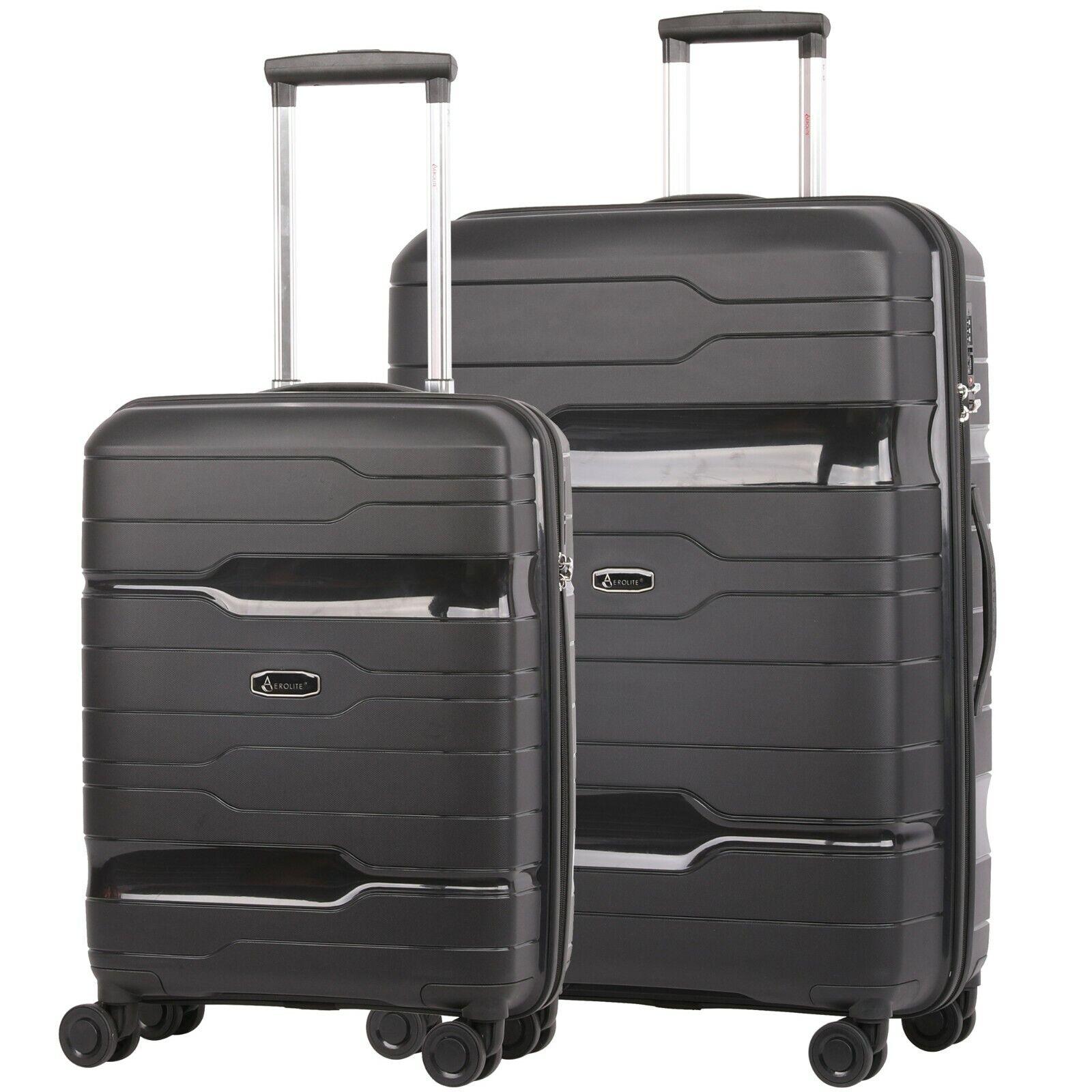 Aerolite Premium Rigida Valigia & Carry On Mano Cabina Tenere Bagaglio 2 Pz Set