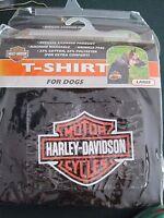 In Package: Harley Davidson Bar And Shield Dog T-shirt Small. Lrg, Xl