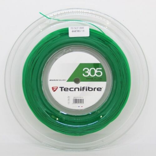 TECNIFIBRE 305 GREEN STRING FULL RESTRING *RACKET RESTRINGING SERVICE FREE P/&P