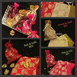 10*Wedding Table Mehndi Decoration Bid Favour Gift Bags-Indian ...