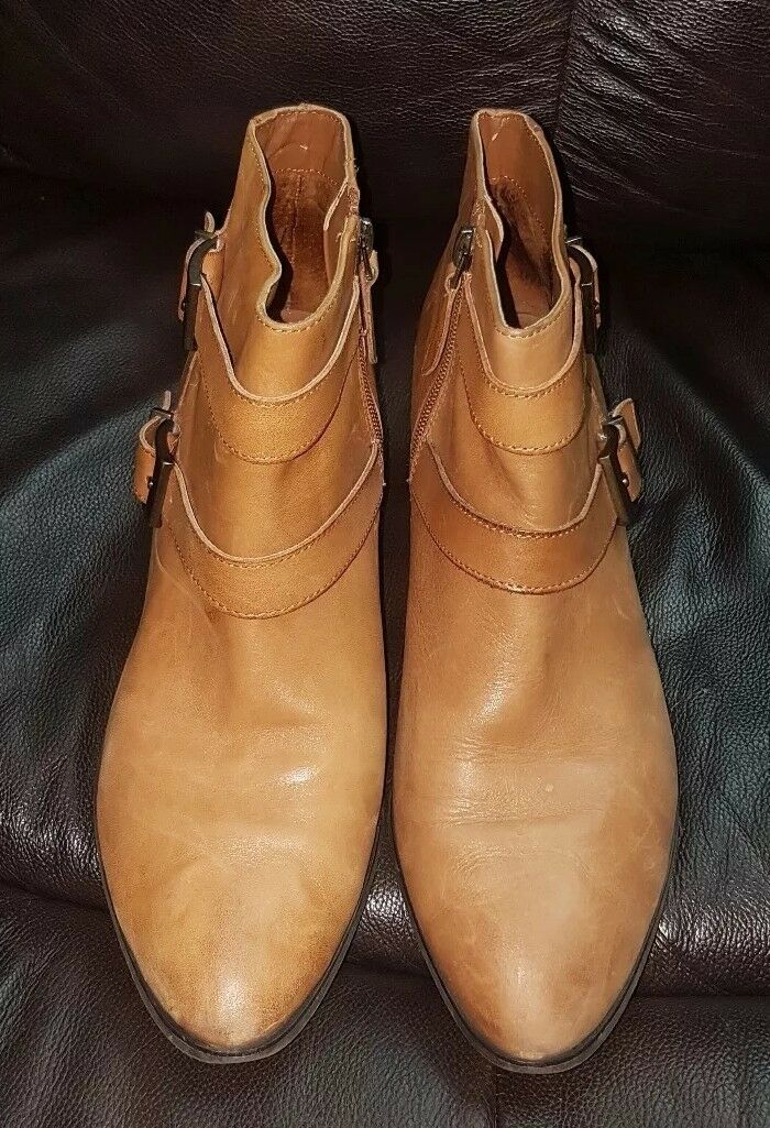 Franco Sarto Quartet Womens Leather Ankle Boots Booties Booties Booties shoes Brown Size 9M 877ad6